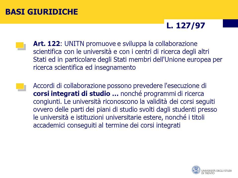 L. 127/97 BASI GIURIDICHE Art.