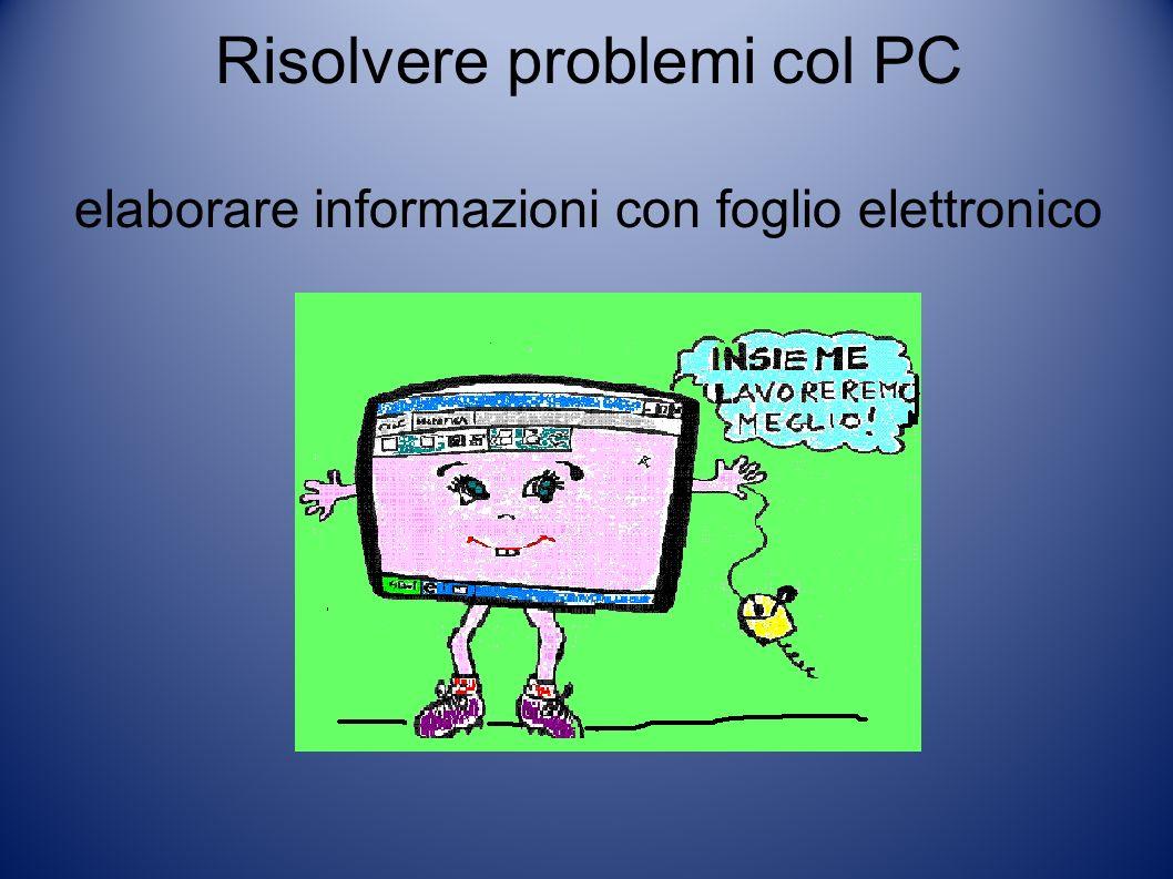 Risolvere problemi col PC elaborare informazioni con foglio elettronico