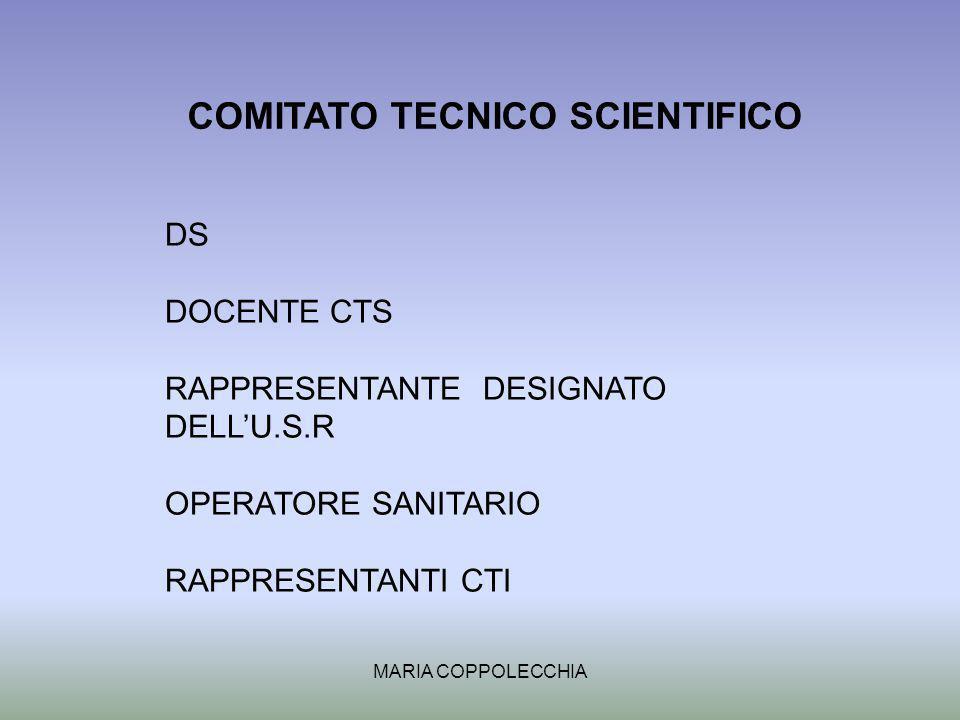 MARIA COPPOLECCHIA COMITATO TECNICO SCIENTIFICO DS DOCENTE CTS RAPPRESENTANTE DESIGNATO DELLU.S.R OPERATORE SANITARIO RAPPRESENTANTI CTI