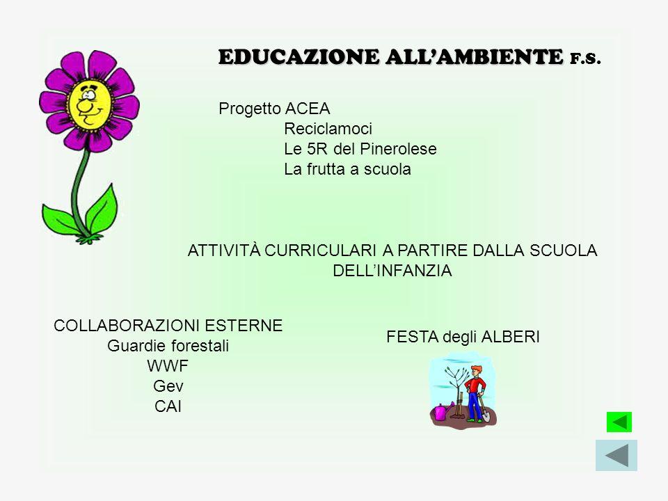 EDUCAZIONE ALLA SALUTE COLLABORAZIONI ESTERNE pediatria di base e ASL TO3 sui corretti stili di vita: alimentazione- movimento Asl (Veterinari – Ostet