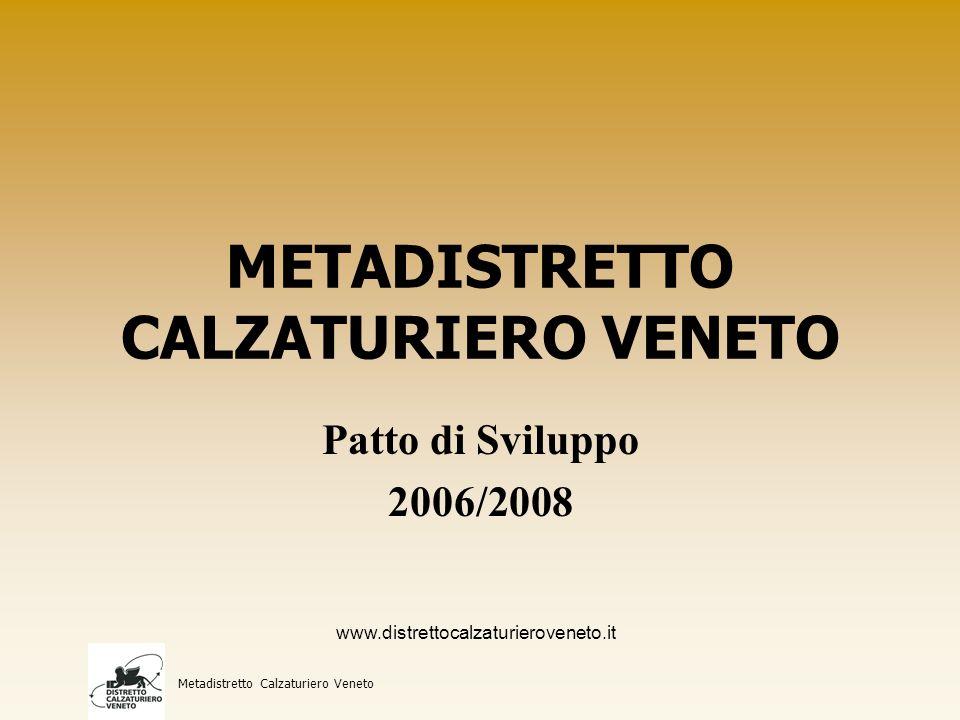 Confronto aziende aderenti al Patto 2004/2006 con 2006/2008 Metadistretto Calzaturiero Veneto Patto 2004Patto 2006% 26330917,49 www.distrettocalzaturieroveneto.it