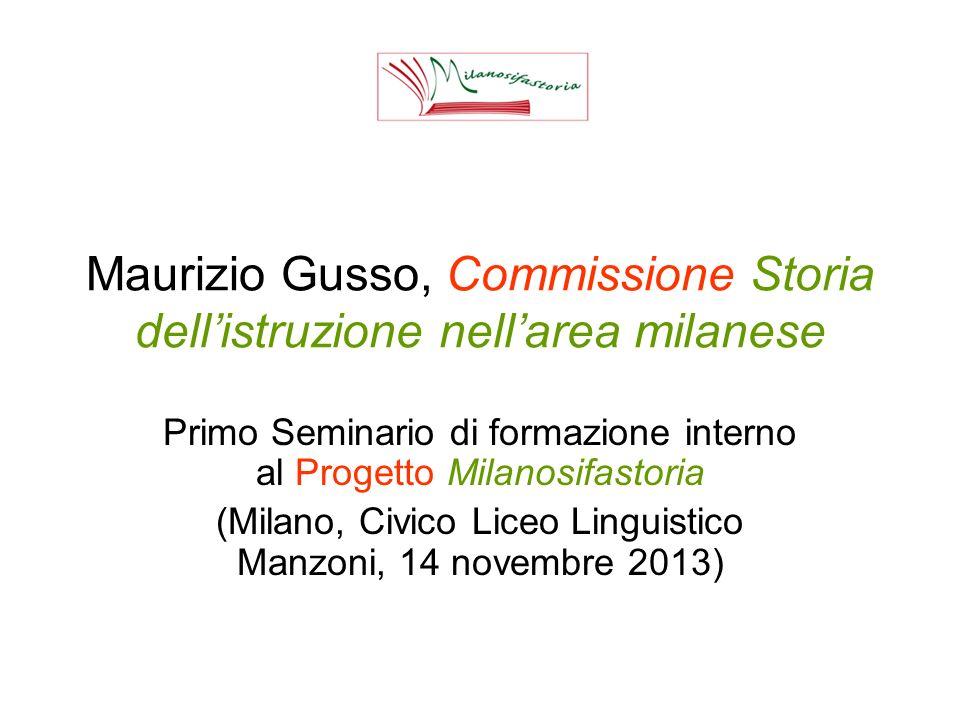 Indice della comunicazione di Maurizio Gusso 1.Composizione della Commissione 2.