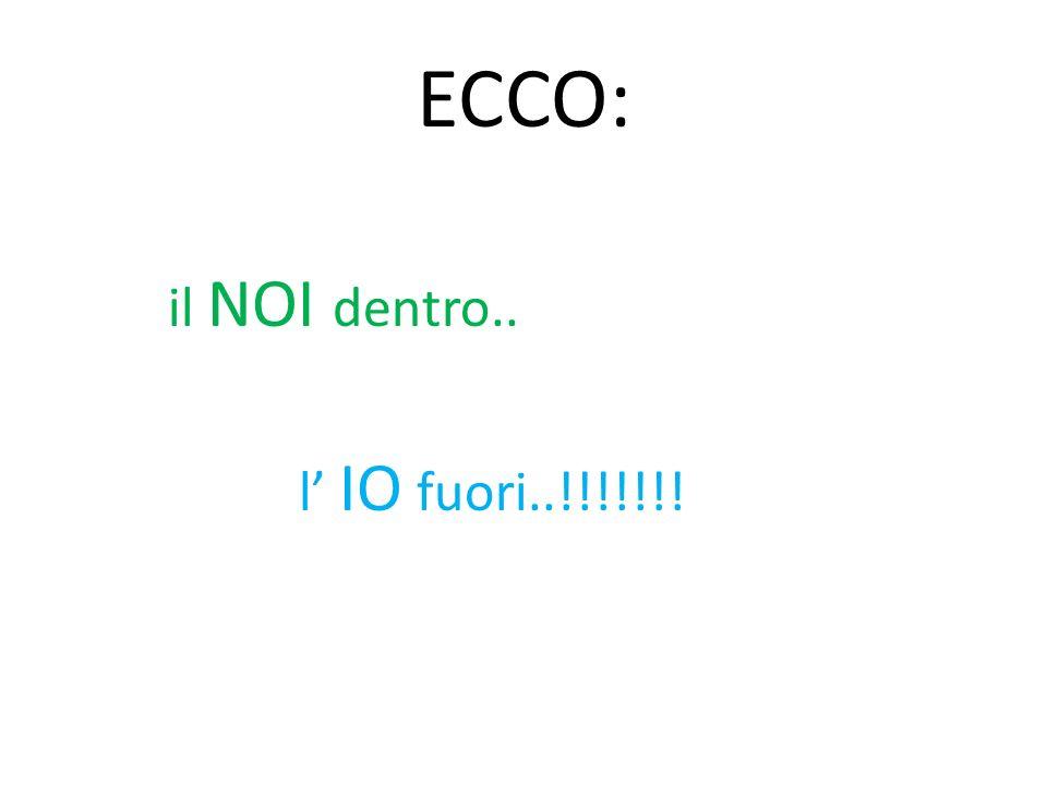 ECCO: il NOI dentro.. l IO fuori..!!!!!!!
