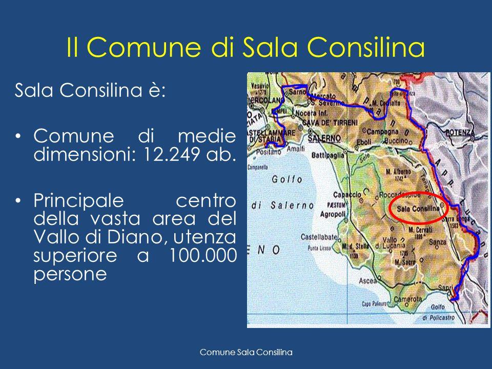 Il Comune di Sala Consilina Sala Consilina è: Comune di medie dimensioni: 12.249 ab.