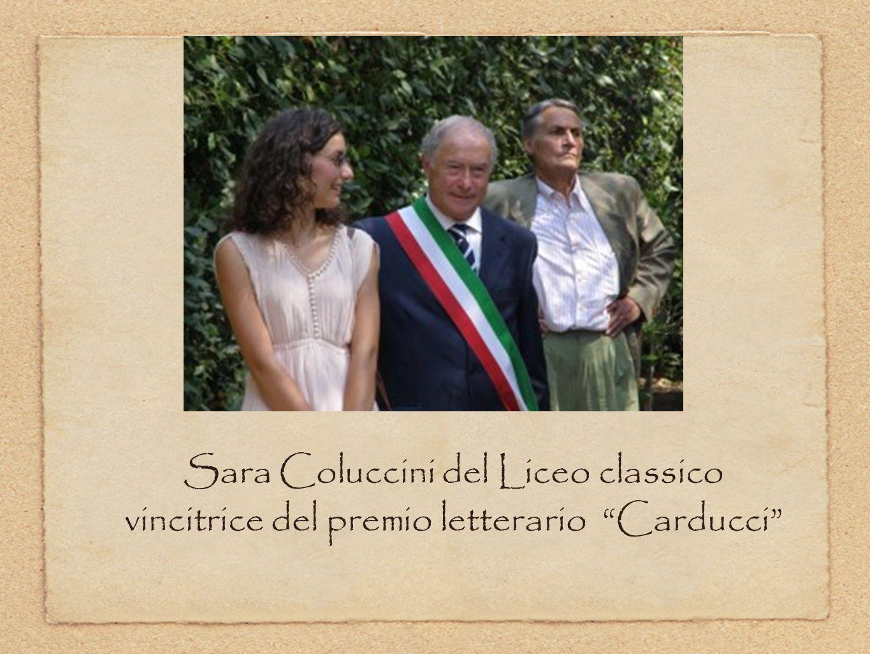 Sara Coluccini del Liceo classico vincitrice del premio letterario Carducci