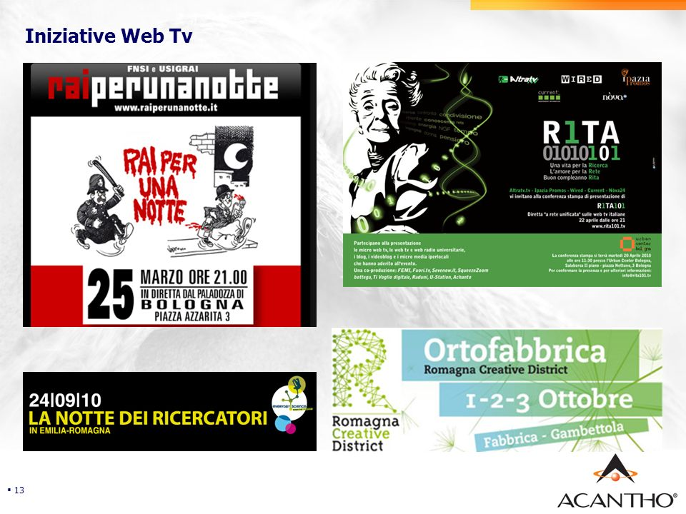 Security Iniziative Web Tv 13
