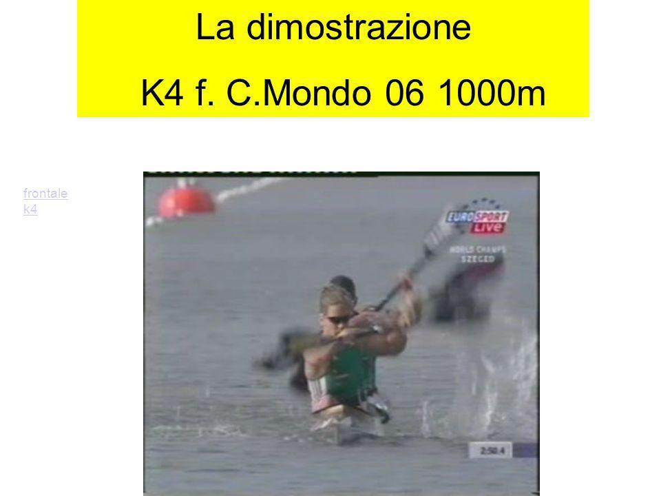 La dimostrazione K4 f. C.Mondo 06 1000m frontale k4