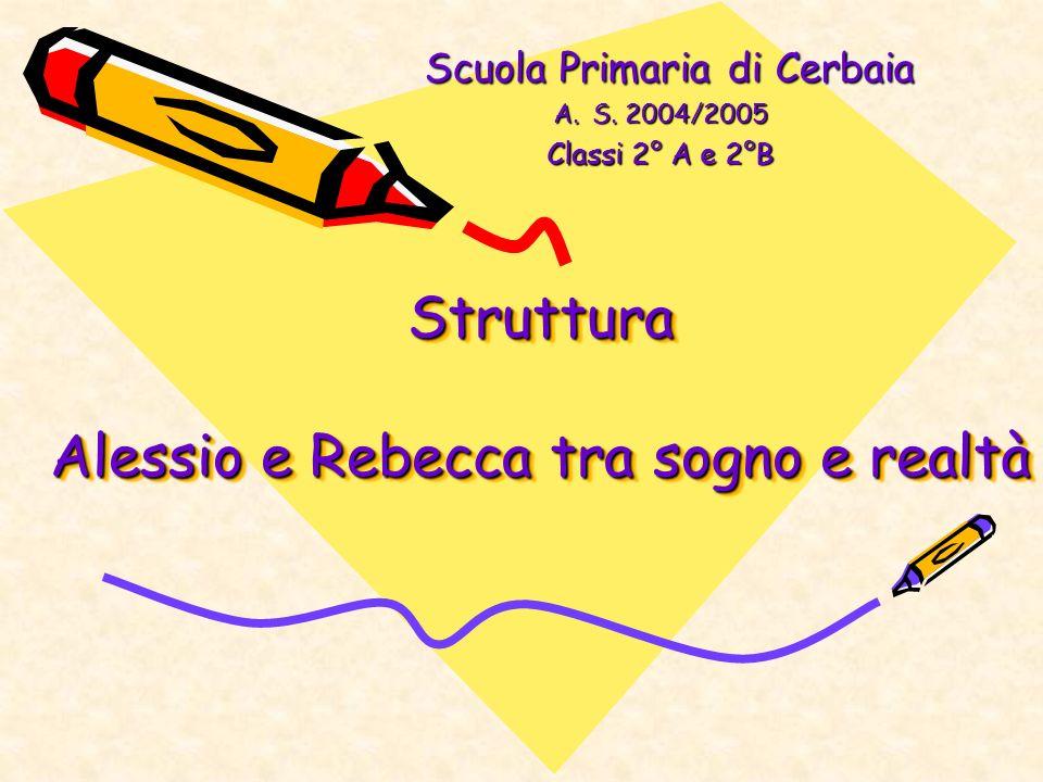 Struttura Alessio e Rebecca tra sogno e realtà Struttura Alessio e Rebecca tra sogno e realtà Scuola Primaria di Cerbaia Scuola Primaria di Cerbaia A.S.