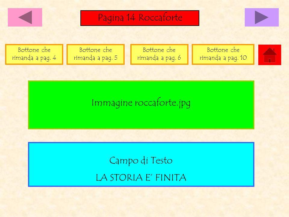 Pagina 14 Roccaforte Campo di Testo LA STORIA E FINITA Immagine roccaforte.jpg Bottone che rimanda a pag. 4 Bottone che rimanda a pag. 5 Bottone che r