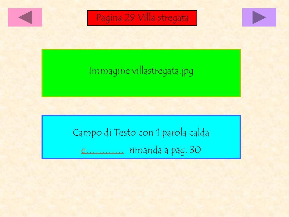 Pagina 29 Villa stregata Campo di Testo con 1 parola calda e………… rimanda a pag.