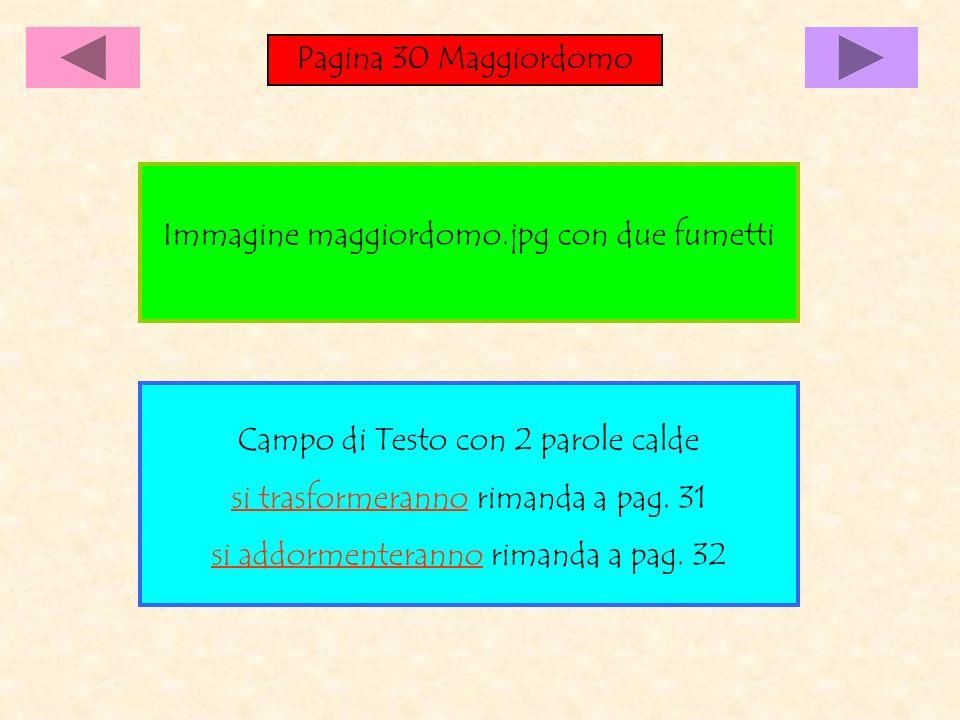Pagina 30 Maggiordomo Campo di Testo con 2 parole calde si trasformeranno rimanda a pag.