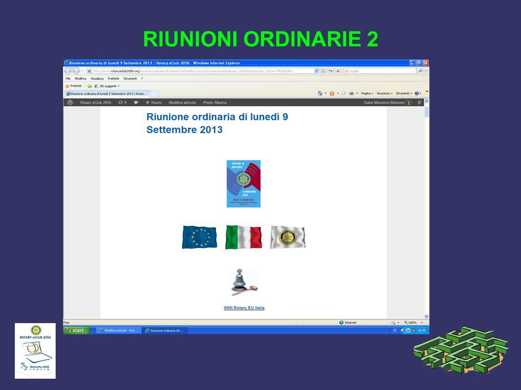 RIUNIONI ORDINARIE 2