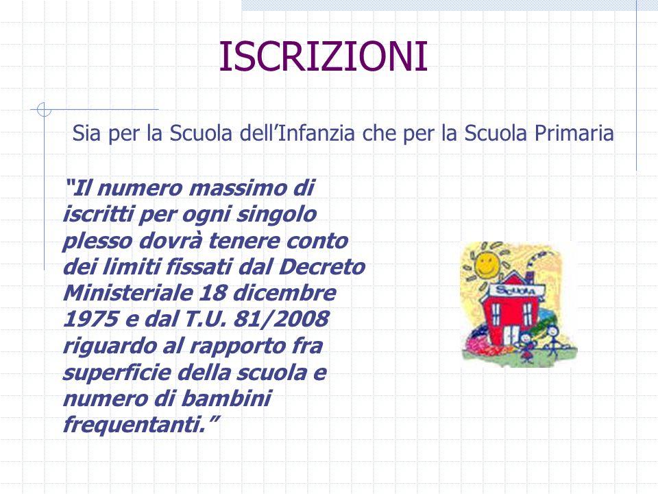 ISCRIZIONI Nella Scuola Primaria G.Pieraccini possono essere accolti fino a 150 bambini.