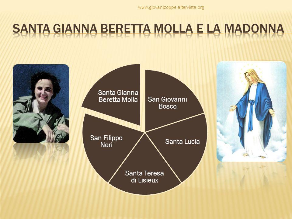 San Giovanni Bosco Santa Lucia Santa Teresa di Lisieux San Filippo Neri Santa Gianna Beretta Molla