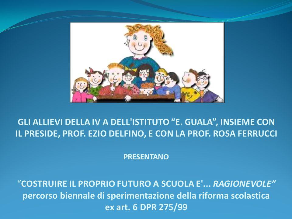 GLI ALLIEVI DELLA IV A DELL ISTITUTO E.GUALA, INSIEME CON IL PRESIDE, PROF.