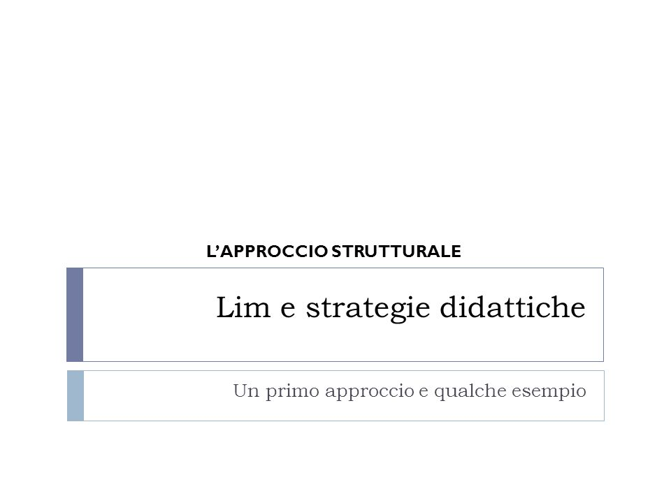 Strategia Laboratoriale LEARNING TOGHETER 1.