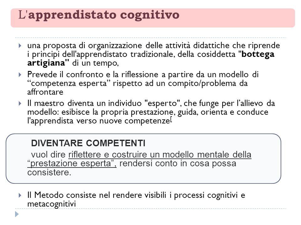 L' apprendistato cognitivo una proposta di organizzazione delle attività didattiche che riprende i principi dell'apprendistato tradizionale, della cos