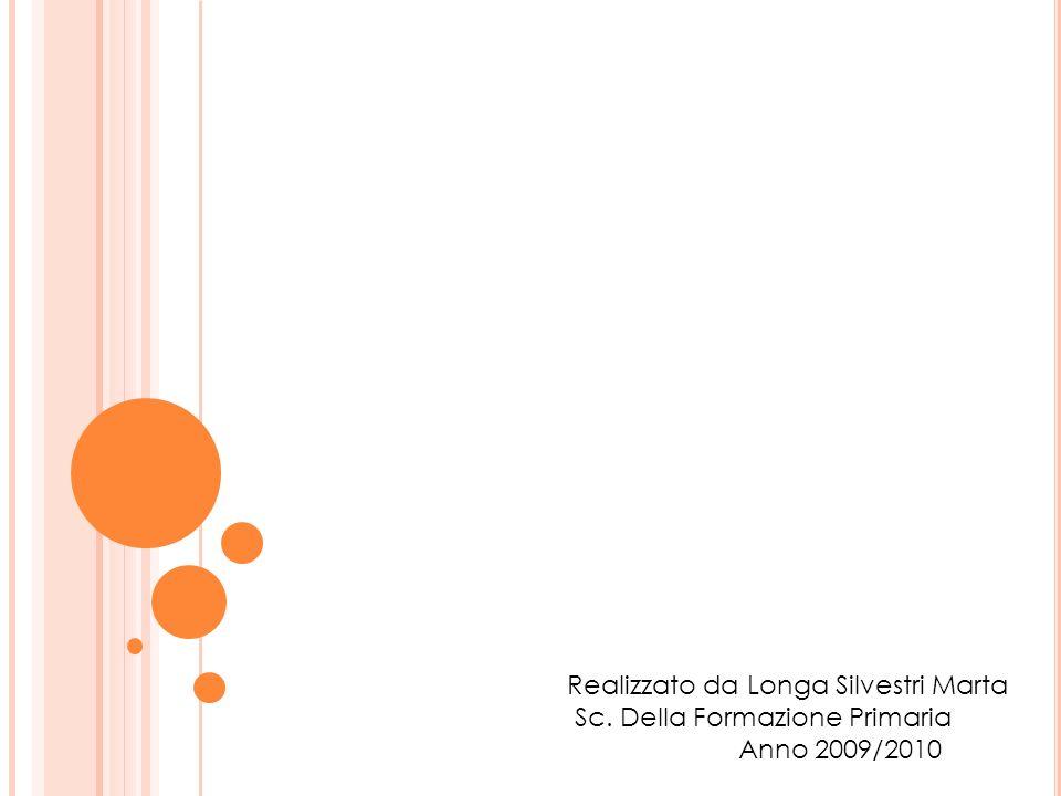 Realizzato da Longa Silvestri Marta Sc. Della Formazione Primaria Anno 2009/2010