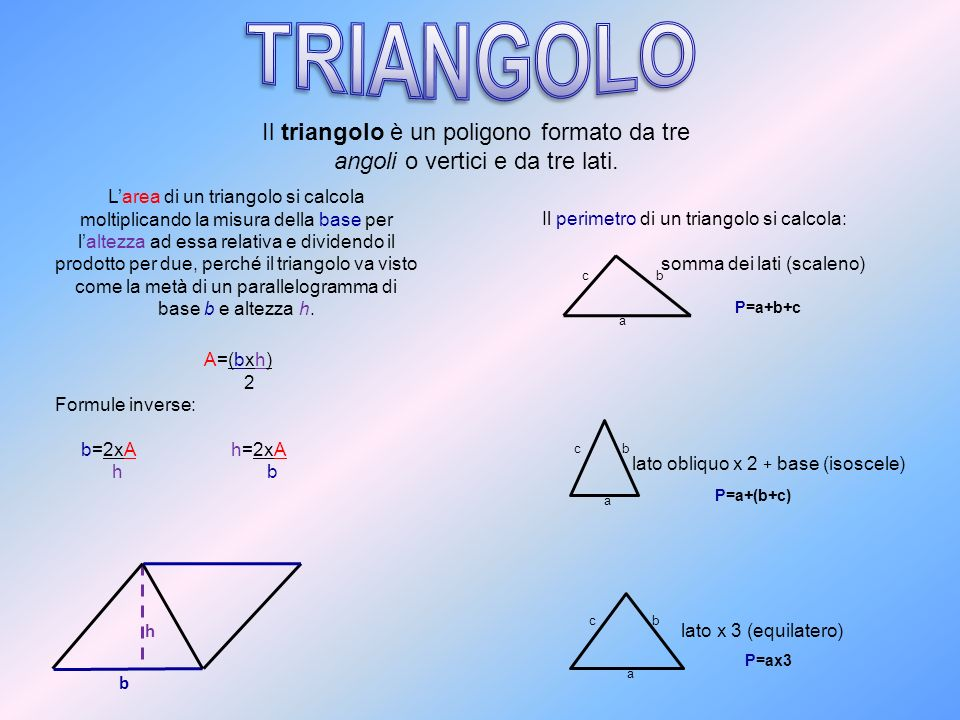 I quadrilateri si classificano in: PARALLELOGRAMMI: hanno due coppie di lati paralleli.