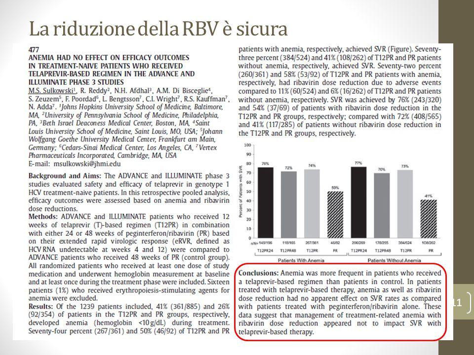 La riduzione della RBV è sicura 11