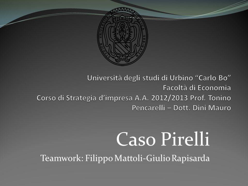 Caso Pirelli Teamwork: Filippo Mattoli-Giulio Rapisarda