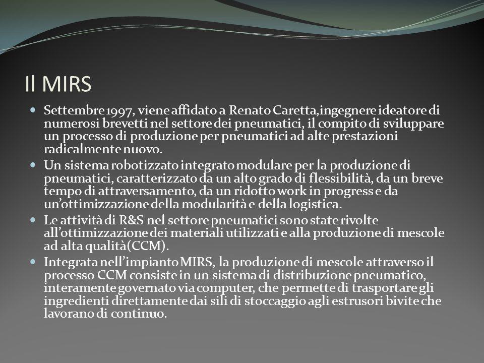 Il MIRS Settembre 1997, viene affidato a Renato Caretta,ingegnere ideatore di numerosi brevetti nel settore dei pneumatici, il compito di sviluppare u