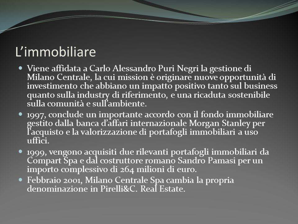 Limmobiliare Viene affidata a Carlo Alessandro Puri Negri la gestione di Milano Centrale, la cui mission è originare nuove opportunità di investimento