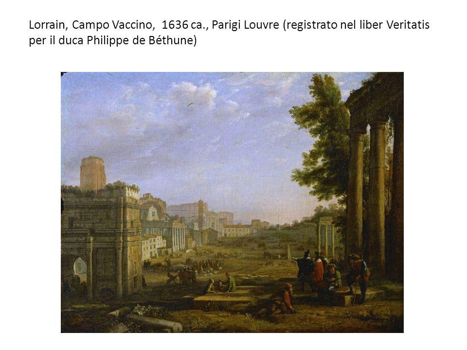 Lorrain, Campo Vaccino, 1636 ca., Parigi Louvre (registrato nel liber Veritatis per il duca Philippe de Béthune)