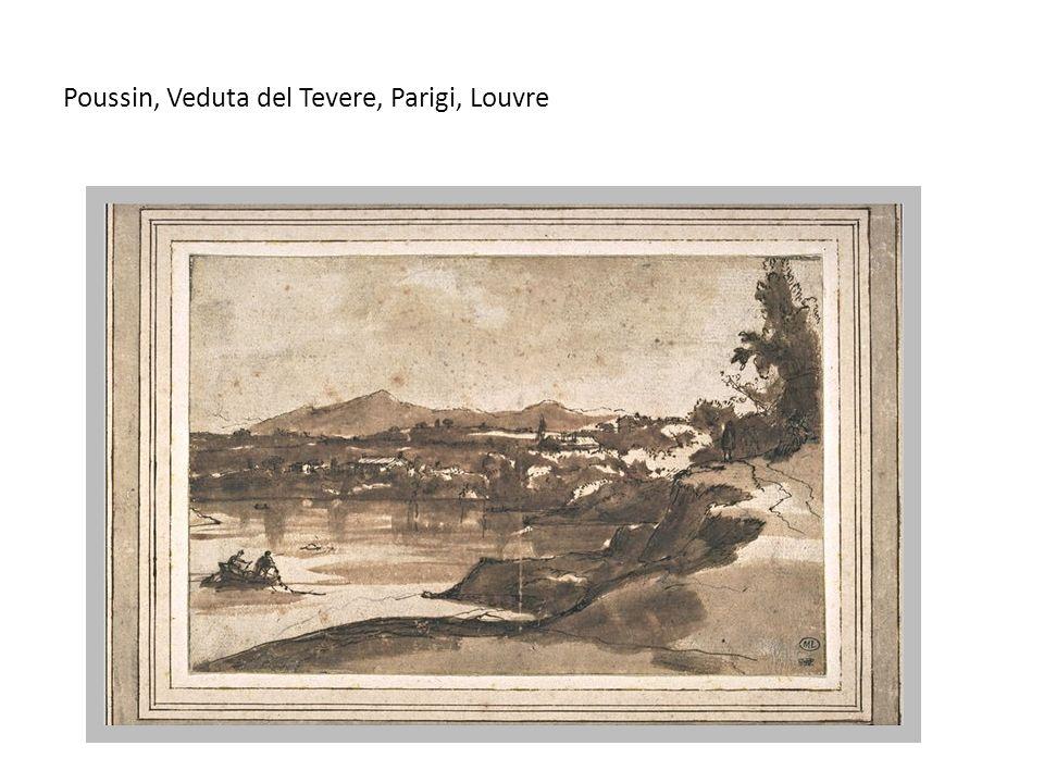 Poussin, Veduta del Tevere, Parigi, Louvre