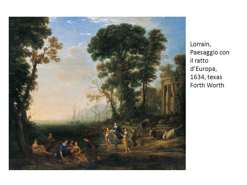Lorrain, Paesaggio con il ratto dEuropa, 1634, texas Forth Worth