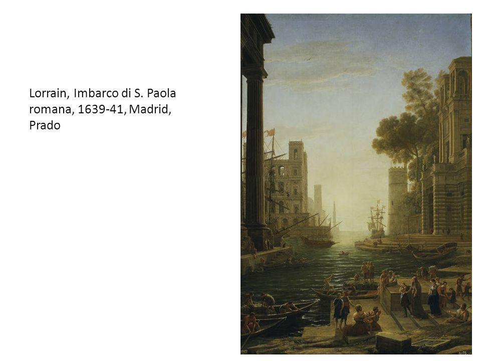 Lorrain, Imbarco di S. Paola romana, 1639-41, Madrid, Prado