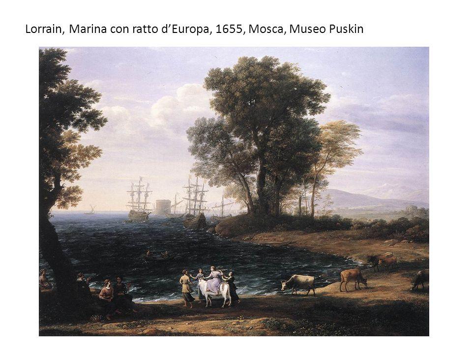 Lorrain, Marina con ratto dEuropa, 1655, Mosca, Museo Puskin