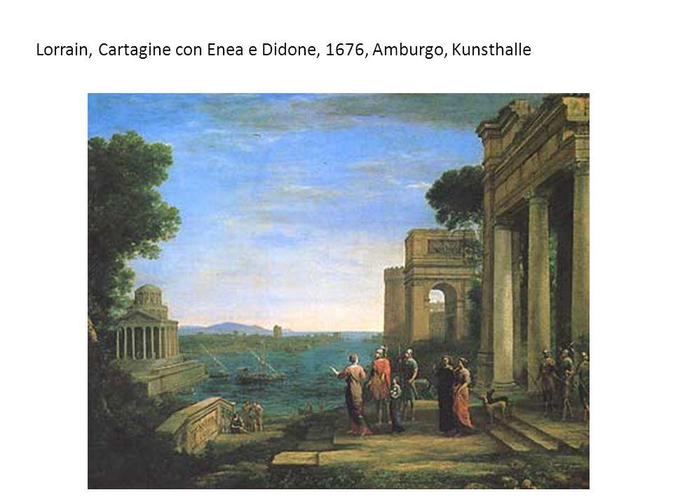 Lorrain, Cartagine con Enea e Didone, 1676, Amburgo, Kunsthalle