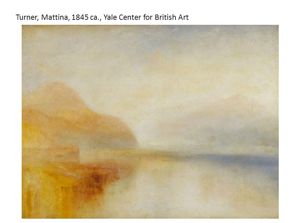Turner, Mattina, 1845 ca., Yale Center for British Art