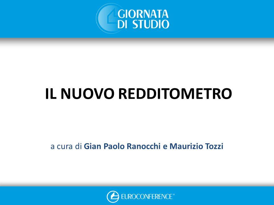 IL NUOVO REDDITOMETRO a cura di Gian Paolo Ranocchi e Maurizio Tozzi