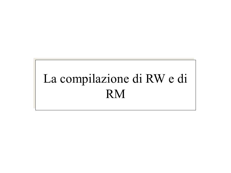 La compilazione di RW e di RM