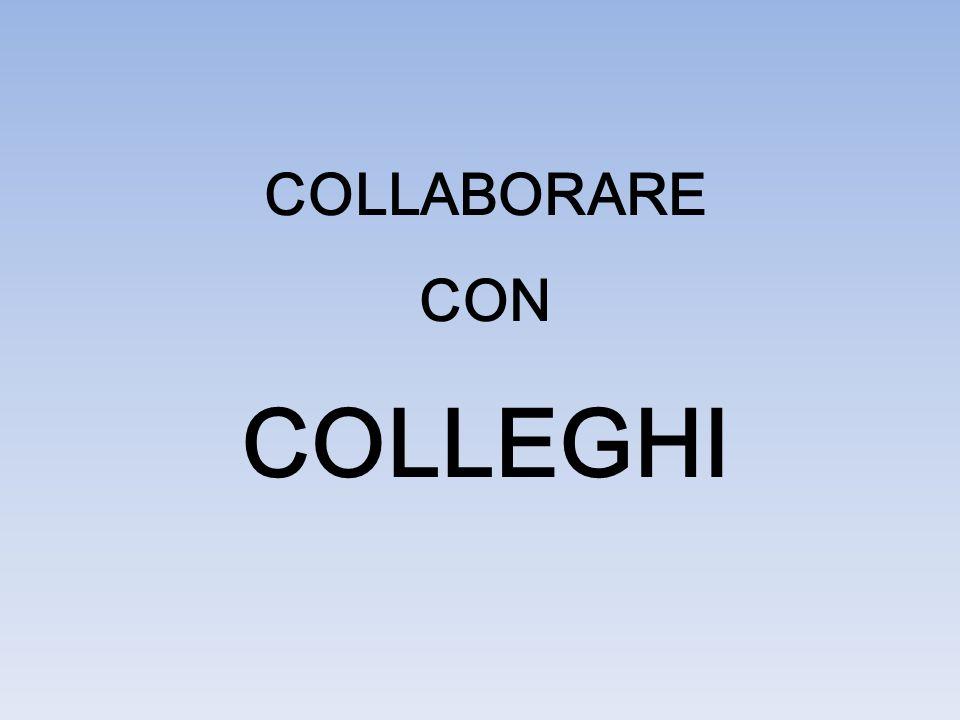 COLLABORARE CON COLLEGHI