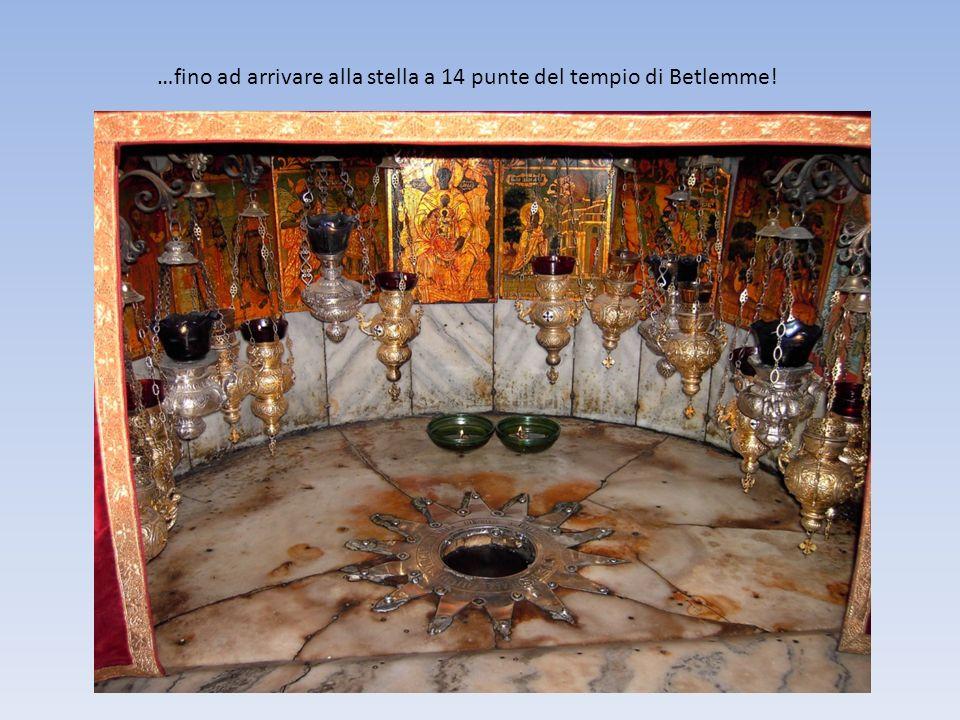 …fino ad arrivare alla stella a 14 punte del tempio di Betlemme!