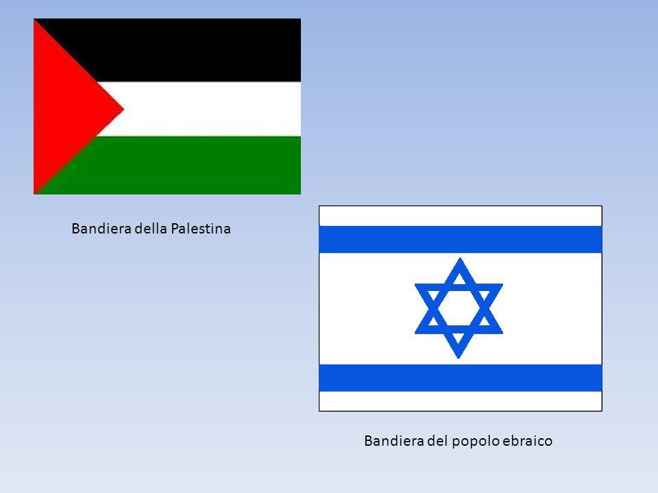 Bandiera del popolo ebraico Bandiera della Palestina