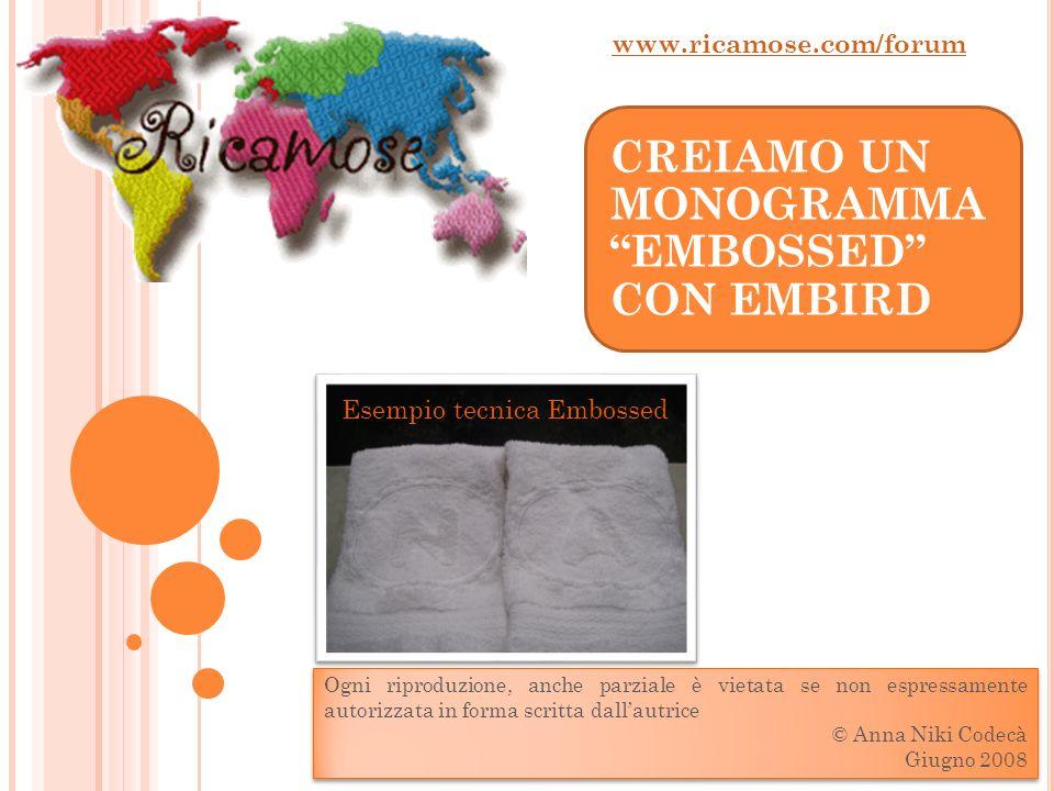 Esempio con riempimento a motivo www.ricamose.com/forum