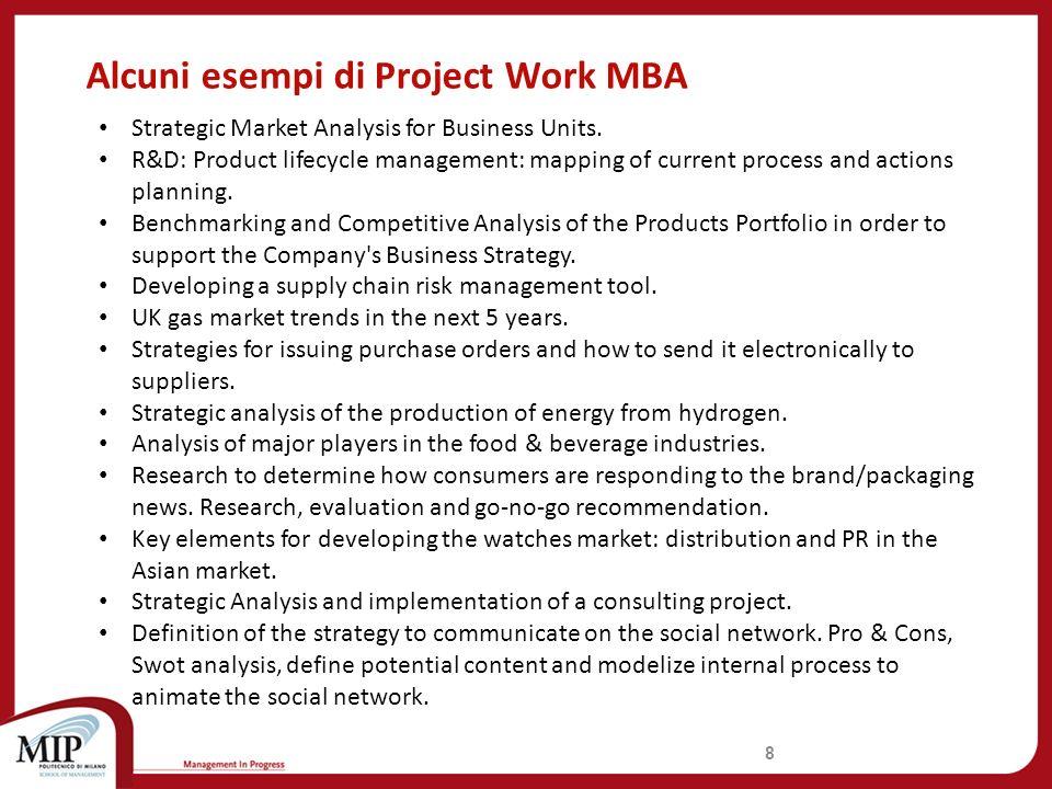 Alcune delle Aziende che in passato hanno offerto un Project Work MBA 9