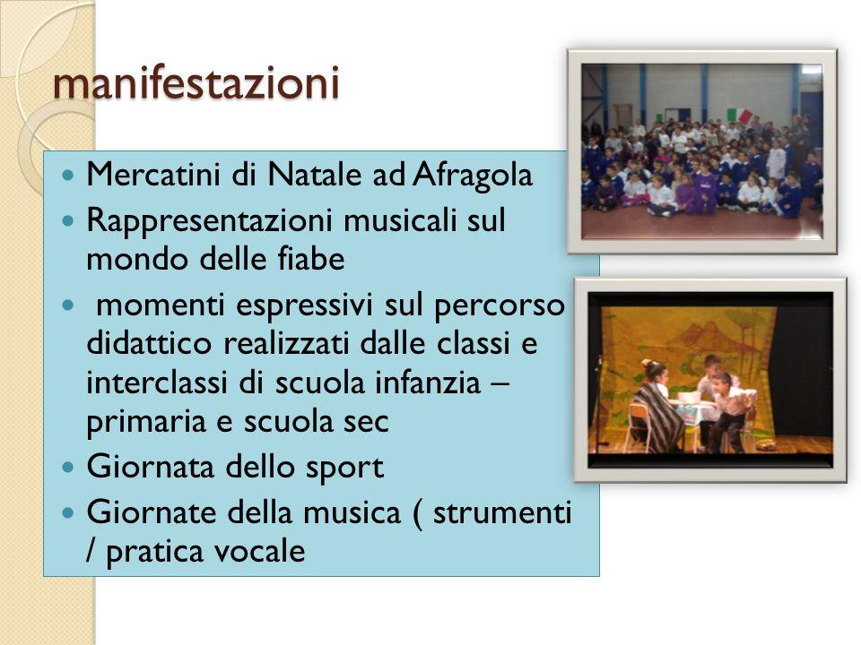 manifestazioni Mercatini di Natale ad Afragola Rappresentazioni musicali sul mondo delle fiabe momenti espressivi sul percorso didattico realizzati da