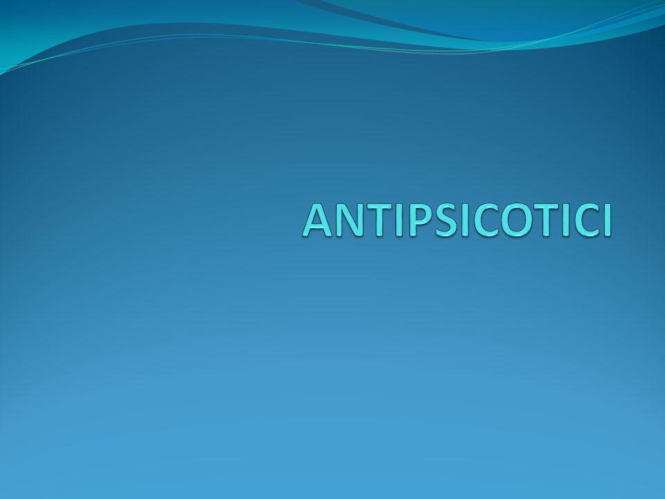 Farmaci antipsicotici Aspetti generali Farmaci antipsicotici sono conosciuti anche come «neurolettici» o antipsicotici tipici Di solito tranquillizzano senza alterare la coscienza e senza causare eccitamento paradosso, ma non devono essere considerati alla stregua di tranquillanti.