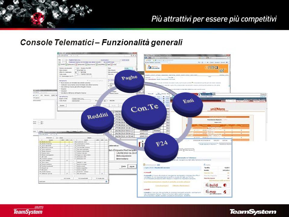 Console Telematici - Nuovo menu con browser scadenze