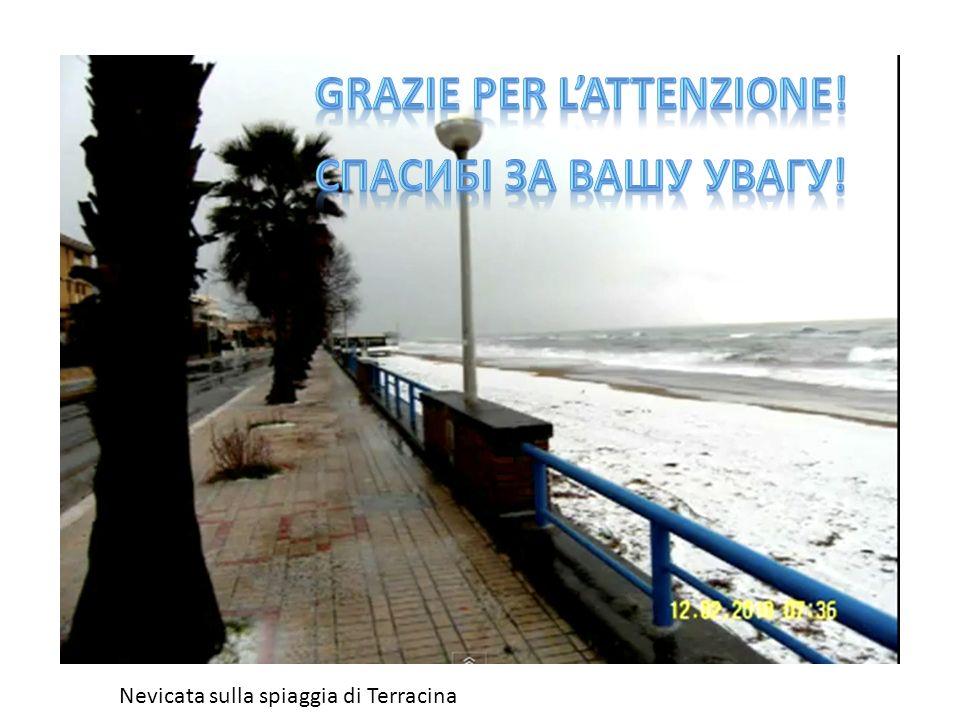 Nevicata sulla spiaggia di Terracina