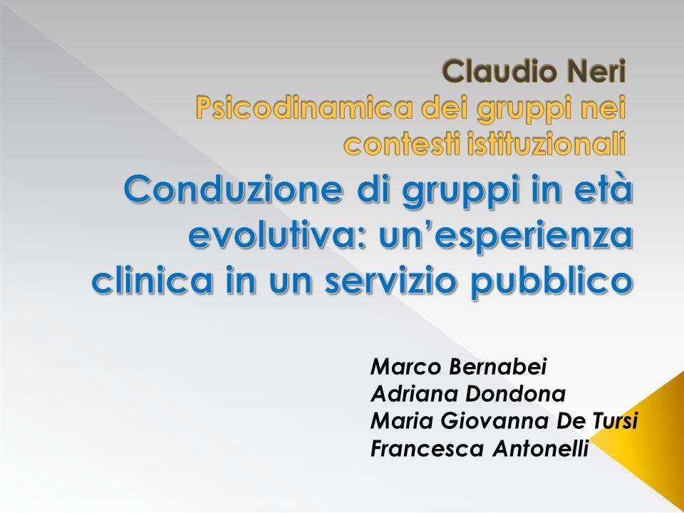 Marco Bernabei Adriana Dondona Maria Giovanna De Tursi Francesca Antonelli