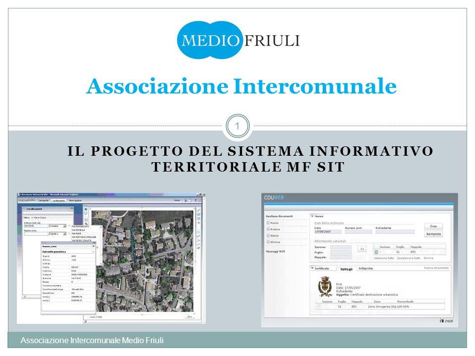 IL PROGETTO DEL SISTEMA INFORMATIVO TERRITORIALE MF SIT Associazione Intercomunale Medio Friuli 1 Associazione Intercomunale