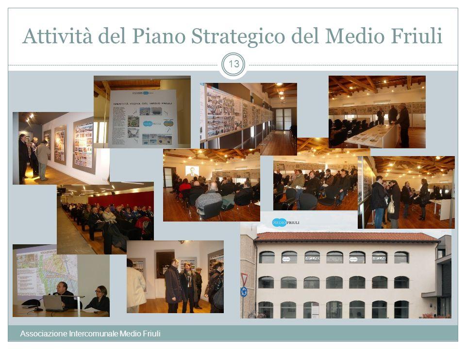 Attività del Piano Strategico del Medio Friuli Associazione Intercomunale Medio Friuli 13