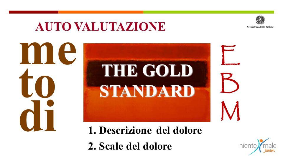 me to di EBMEBM 1. Descrizione del dolore 2. Scale del dolore THE GOLD STANDARD AUTO VALUTAZIONE