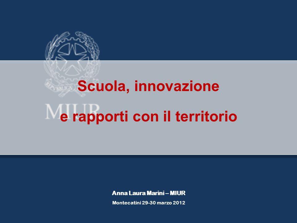 Scuola, innovazione e rapporti con il territorio Anna Laura Marini – MIUR Montecatini 29-30 marzo 2012